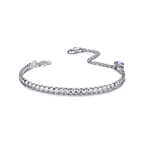 金(jin)紫晶(jing)彩寶(bao)瓖鑽石手鏈