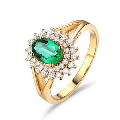 哥倫比亞(ya)祖母綠彩寶(bao)戒指