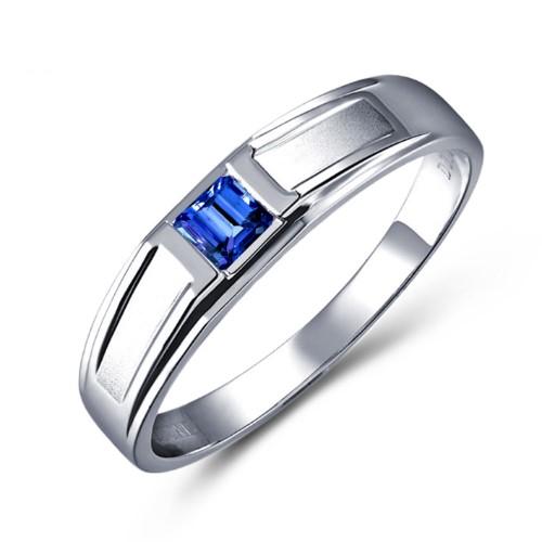 天然皇家白金(jin)戒指